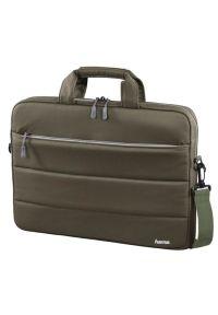 Oliwkowa torba na laptopa hama w kolorowe wzory, wizytowa