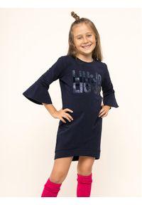 Niebieska sukienka Liu Jo Kids casualowa, prosta