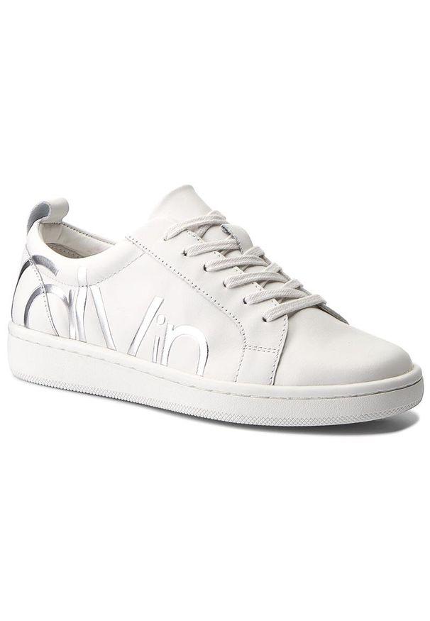 Białe półbuty Calvin Klein z cholewką