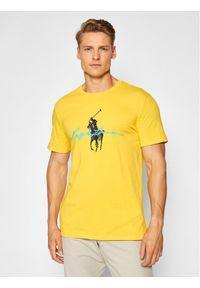 Polo Ralph Lauren T-Shirt 710839050006 Żółty Custom Slim Fit. Typ kołnierza: polo. Kolor: żółty