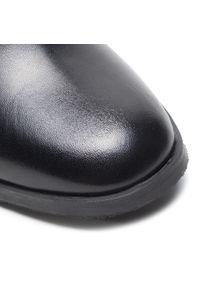 Czarne botki Ann Mex na obcasie, na średnim obcasie