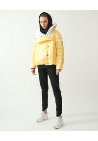 MMC STUDIO - Żółta kurtka dwustronna Dale Light. Kolor: biały. Materiał: jeans, tkanina, guma. Wzór: aplikacja