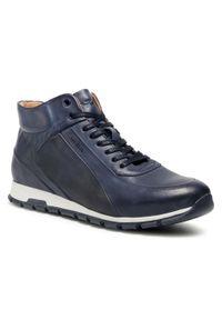 Niebieskie sneakersy Wojas z cholewką