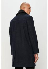 Niebieski płaszcz Lee na co dzień, bez kaptura, klasyczny