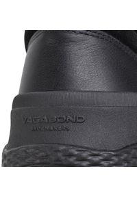 Czarne buty sportowe vagabond z cholewką, na co dzień