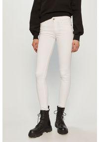 Białe jeansy Diesel gładkie