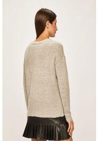 Szary sweter ANSWEAR z aplikacjami