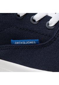 Jack & Jones - Tenisówki JACK&JONES - Jrmork 12170610 Canvas Navy Blazer. Kolor: niebieski. Materiał: materiał. Szerokość cholewki: normalna. Obcas: na płaskiej podeszwie