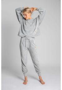 MOE - Pluszowe Spodnie Joggers - Popielate. Kolor: szary. Materiał: poliester