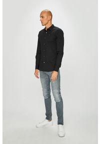 Czarna koszula Tommy Jeans na co dzień, z klasycznym kołnierzykiem