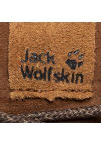 Brązowe buty zimowe Jack Wolfskin eleganckie, z cholewką