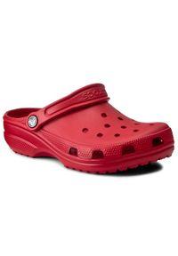 Crocs Klapki Classic 10001 Czerwony. Kolor: czerwony