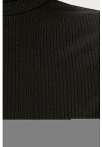Czarna bluzka z długim rękawem Vila casualowa, na co dzień, z golfem