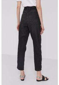 Czarne jeansy Pepe Jeans z podwyższonym stanem, gładkie