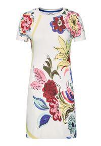 Desigual Sukienka letnia Alifornia 21SWVK36 Biały Slim Fit. Kolor: biały. Sezon: lato