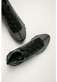 Czarne buty sportowe Nike Sportswear z cholewką, na sznurówki, z okrągłym noskiem