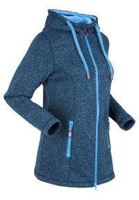 Bluza rozpinana z polaru, długi rękaw bonprix ciemnoniebiesko-błękitny. Kolor: niebieski. Materiał: polar. Długość rękawa: długi rękaw. Długość: długie