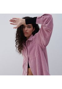 Reserved - Sztruksowa koszula - Różowy. Kolor: różowy. Materiał: sztruks