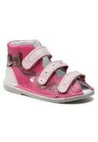 Bartek - Sandały BARTEK - 16686-977 Fuksja. Kolor: różowy. Materiał: skóra, zamsz