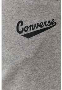 Converse - Szorty. Okazja: na co dzień. Kolor: szary. Materiał: dzianina. Wzór: gładki. Styl: casual