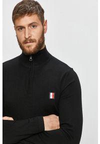Czarny sweter TOMMY HILFIGER casualowy, na co dzień
