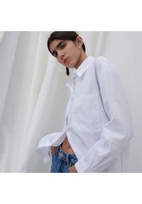 Reserved - Biała koszula z bawełny organicznej - Biały. Kolor: biały. Materiał: bawełna