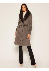 Brązowy płaszcz zimowy Lauren Ralph Lauren