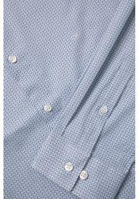 Niebieska koszula Calvin Klein długa, elegancka #7
