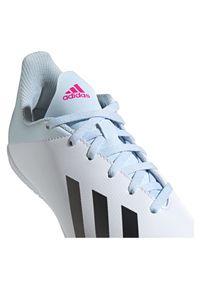Adidas - Buty halowe dla dzieci adidas X 19.4 IN EF1624. Okazja: na uczelnię. Zapięcie: sznurówki. Materiał: syntetyk, guma, materiał. Szerokość cholewki: normalna. Sport: piłka nożna, bieganie