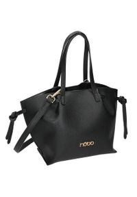 Nobo - Torebka damska czarna NOBO NBAG-K1220-C020. Kolor: czarny. Wzór: gładki. Materiał: skórzane