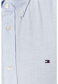 Niebieska koszula TOMMY HILFIGER na co dzień, casualowa, button down