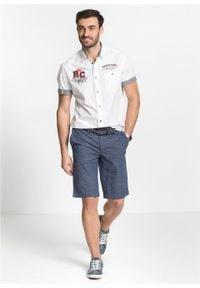 Koszula z krótkim rękawem i nadrukiem bonprix Koszula kr.ręk. biał. Kolor: biały. Długość rękawa: krótki rękaw. Długość: krótkie. Wzór: nadruk