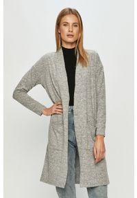 Szary sweter rozpinany Haily's casualowy, na co dzień