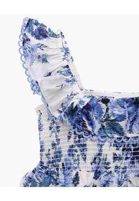 ZIMMERMANN KIDS - Biała sukienka z nadrukiem kwiatowym Aliane. Kolor: biały. Materiał: bawełna. Długość rękawa: na ramiączkach. Wzór: kwiaty, nadruk