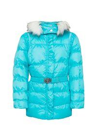 Niebieska kurtka zimowa Poivre Blanc z nadrukiem