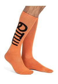 ROBERT KUPISZ - Pomarańczowe skarpetki z logo NOW. Kolor: pomarańczowy. Materiał: materiał