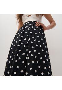 Reserved - Wzorzysta spódnica - Czarny. Kolor: czarny