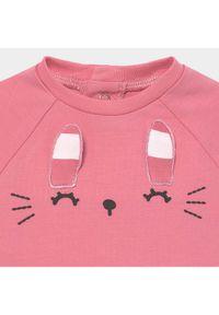Mayoral Komplet bluzka i spodnie 1563 Różowy Regular Fit. Kolor: różowy