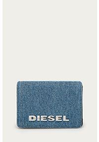 Diesel - Portfel. Kolor: niebieski. Materiał: materiał. Wzór: gładki