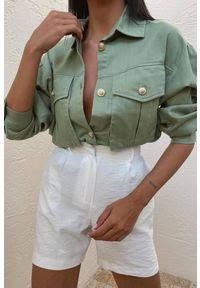 Oliwkowa bluzka IVET na co dzień, elegancka