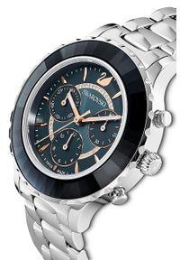 Swarovski - Zegarek 5452504. Kolor: srebrny. Materiał: materiał