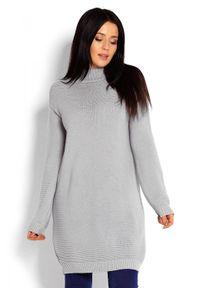 Sweter długi, ze stójką