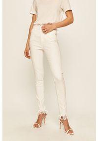 Białe spodnie materiałowe Miss Sixty