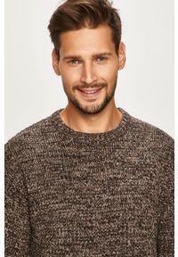 Szary sweter PRODUKT by Jack & Jones na co dzień, casualowy, melanż, z okrągłym kołnierzem
