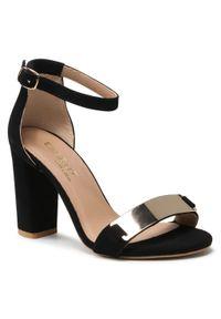 Czarne sandały Eksbut