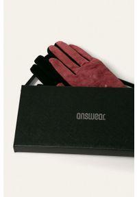 ANSWEAR - Answear - Rękawiczki. Kolor: czerwony