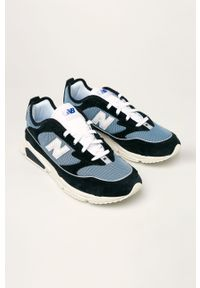 Niebieskie sneakersy New Balance na sznurówki, z cholewką, z okrągłym noskiem