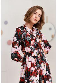 Marie Zélie - Sukienka Noelia Rubecula. Materiał: bawełna, wiskoza, materiał, tkanina, skóra