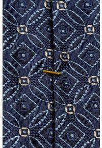 Eton - ETON - Krawat. Kolor: niebieski