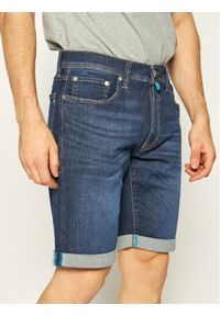 Niebieskie spodenki jeansowe Pierre Cardin